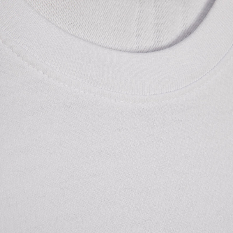 Color:White-Simple Oval Tee
