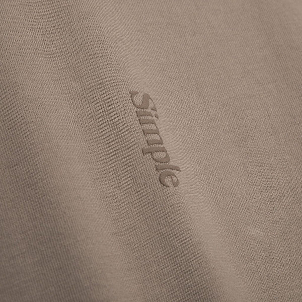 Color:Sand-Simple Logo Tee -alt