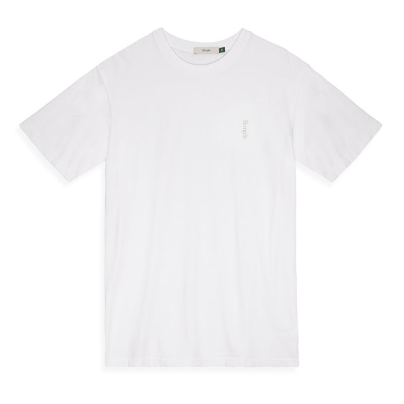 Color:White-Simple Logo Tee