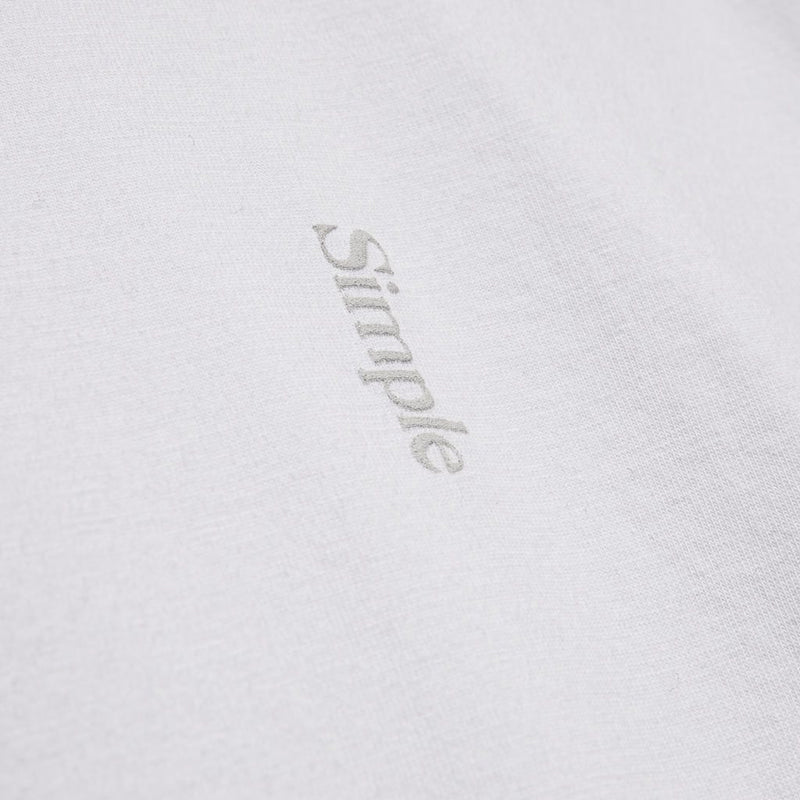 Color:White-Simple Logo Tee -alt