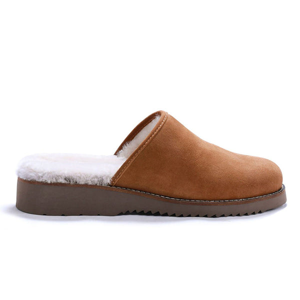 Color:Camel-Simple Cloud 9 Suede Slipper