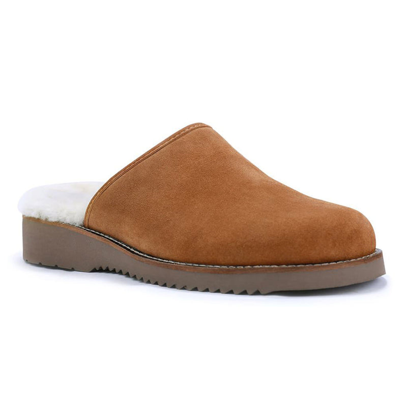 Color:Camel-Simple Cloud 9 Suede Slipper -alt