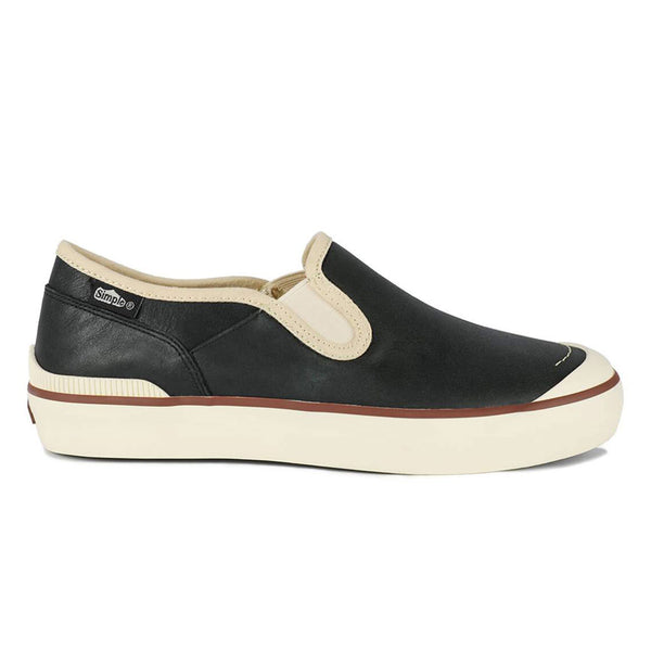 Color:Black-Simple Edward Leather Slip On
