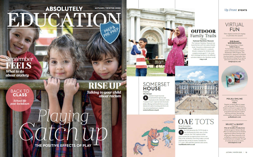 NiMi Projects Origami Workshops featured in Absolutely Education magazine