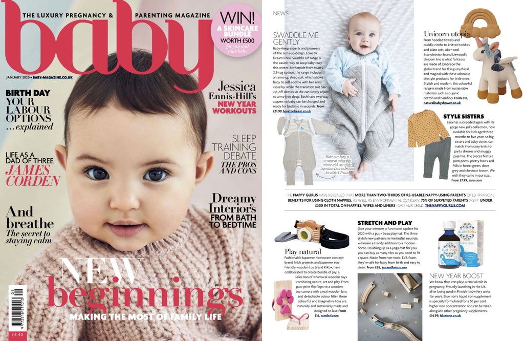 NiMi Projects Kiko Ashiato Flip Flops featured in Baby magazine