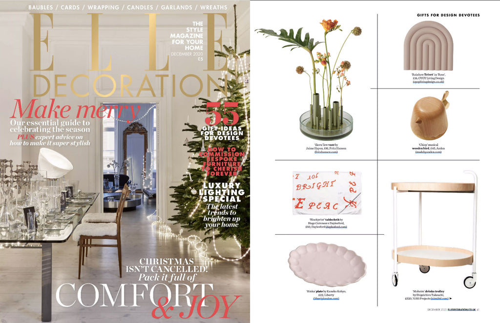 NiMi Projects Moheim Drinks Trolley featured in Elle Decoration magazine