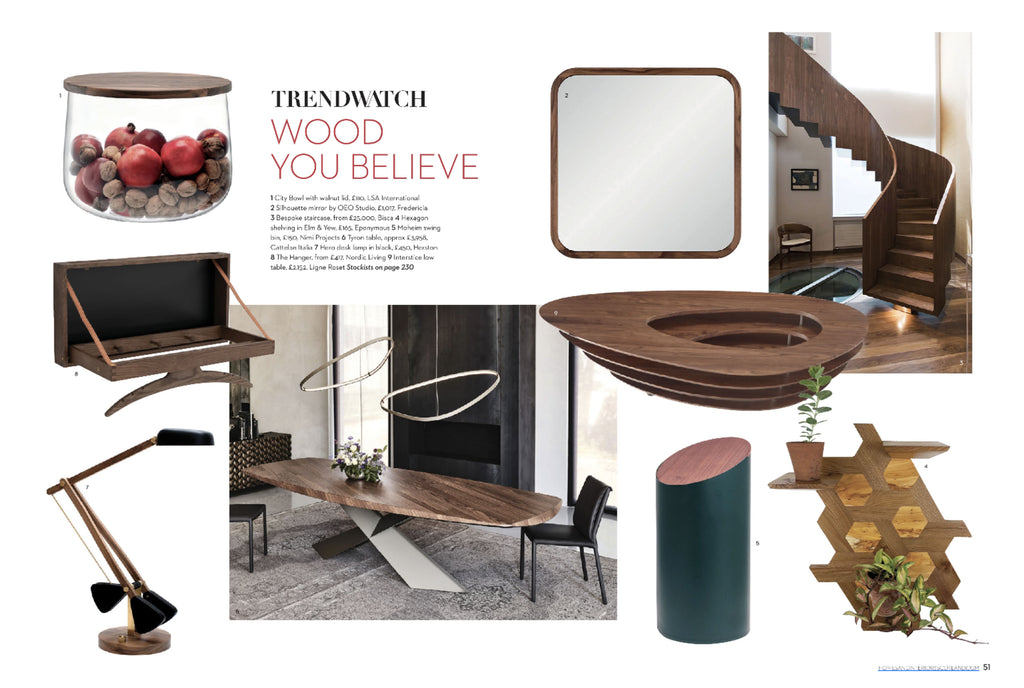 NiMi Projects Moheim Swing Bin featured in Homes & Interiors magazine