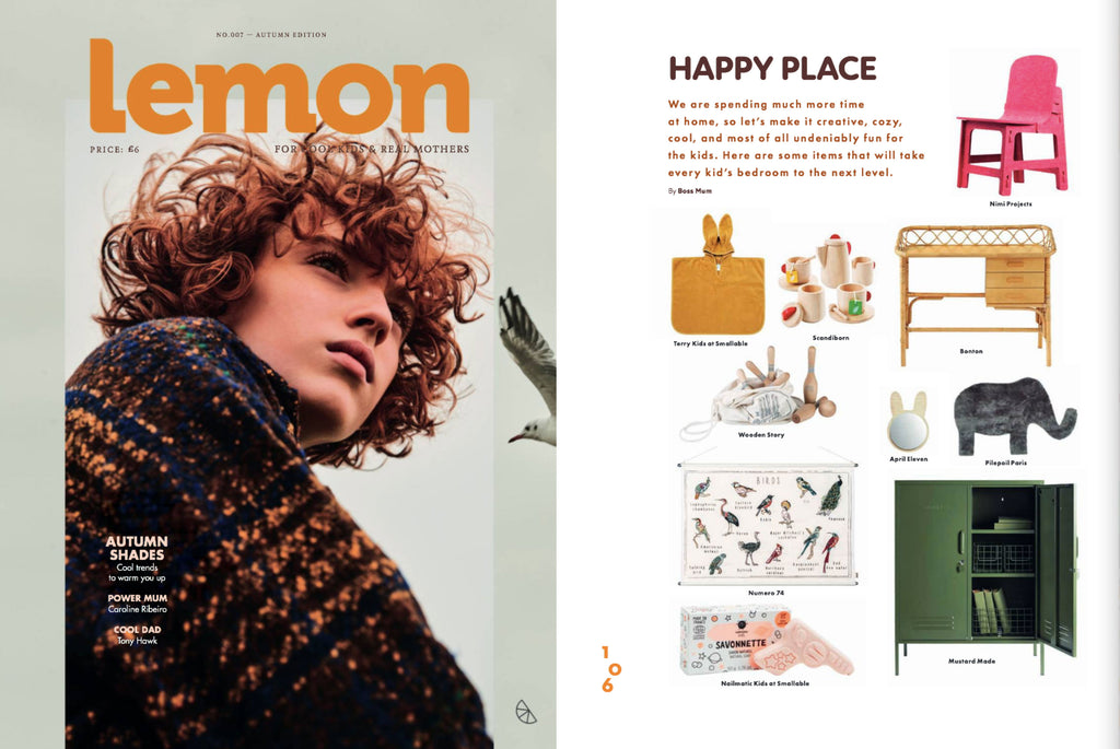 NiMi Projects red Feelt RK Chair featured in Lemon Magazine