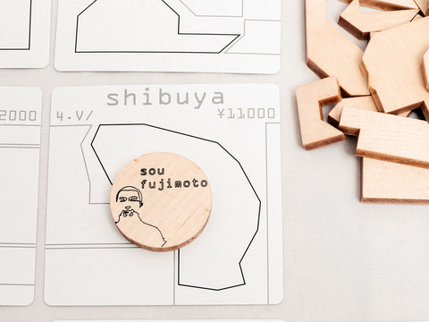 NiMi Projects - Jordan Draper's Tokyo Jutaku wooden board game for fans of Japanese architecture