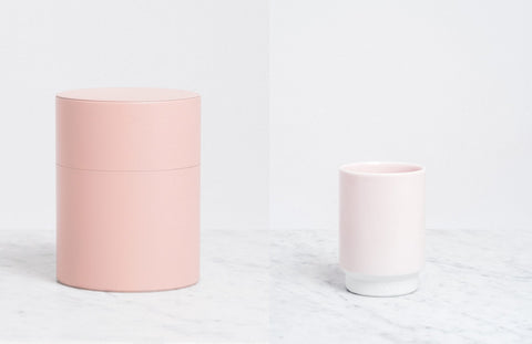 Moheim tin and Asemi Hasami cup NiMi Projects Seal Sevenoaks Japanese homewares and ceramics