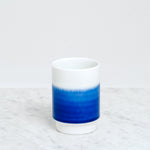 ASEMI HASAMI indigo GRADATION CUP, Japanese Hasami porcelain, MADE IN JAPAN