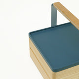 Hand made using traditional Japanese joinery techniques, the Atelier Yocto wooden Tray can be used alone, or slotted atop other Atelier Yocto products. Available at NiMi Projects, UK.