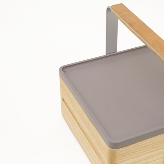 Grey Atelier Yocto Tray, made in Japan using traditional carpentry techniques and available at Nimi Projects, UK.