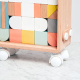 Dou? Carry Me toy wooden blocks with mini travel case. Designed in Japan