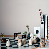 JANNE CORNISH KUGA EARTHENWARE CERAMIC MINI VASES, INSPIRED BY KARATSU POTTERY