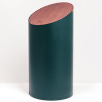 Moheim swing bin with maple wood lid, Japanese design, made in Japan