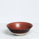 Nishiyama brown ceramic porcelain Fosco Bowl, Japanese design, made in Japan