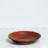 Nishiyama Brown ceramic Fosco Plate, Japanese design, made in Japan