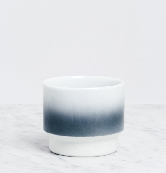 Grey Asemi Hasami Gradation Cup small, Japanese Hasami porcelain, MADE IN JAPAN