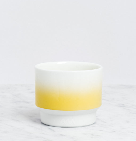 Yellow Asemi Hasami  Gradation Cup small, Japanese Hasami porcelain, MADE IN JAPAN