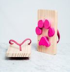 KIKO+ ASHIATO WOODEN GETA FLIP FLOPS, LEAVE PAW PRINTS IN THE SAND, JAPANESE DESIGN