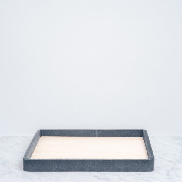 Grey Feelt kitchen Try Tray made with recycled materials. Japanese design, made in Japan