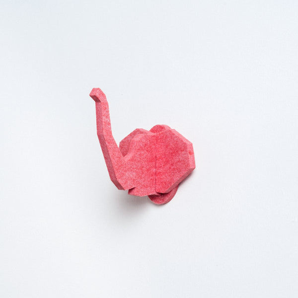 Red Feelt Elephant Hook, Japanese design and made in Japan with recycled materials