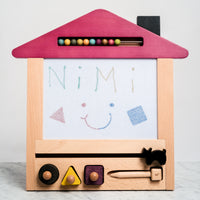kiko+ and gg oekaki house (cat) wooden toy made in japan eco friendly