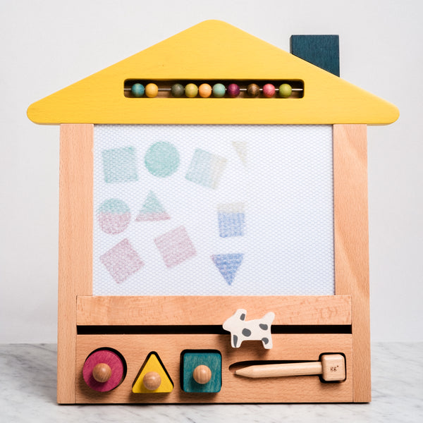 kiko+ and gg oekaki house (dog) wooden toy made in japan eco friendly