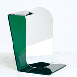 GREEN SEKISAKA WARE TRANSPARENT MIRROR, MADE BY A TRADITIONAL LACQUERWARE COMPANY, JAPANESE DESIGN, MADE IN JAPAN