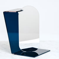 SEKISAKA WARE ANGULAR MIRROR, MADE BY A TRADITIONAL LACQUERWARE COMPANY, JAPANESE DESIGN, MADE IN JAPAN