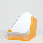 YELLOW SEKISAKA WARE TRANSPARENT MIRROR DESIGNED BY TRADITIONAL LACQUERWARE COMPANY, JAPANESE DESIGN, MADE IN JAPAN