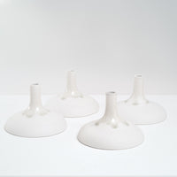 Watanabe Thoki flat bottomed ceramic porcelain vases, artisanal Japanese minimalist design, made in Japan