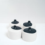 Watanabe Thoki ceramic square vases, Japanese  design, hand crafted in Japan