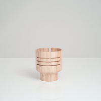 Premium portable acoustic wood speaker by Atelier Yocto, made in Japan in white ash wood using traditional Japanese techniques - NiMi Projects