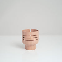 Acoustic alder wood speaker, handcrafted in Japan by Atelier Yocto using traditional Japanese carpentry techniques - NiMi Projects