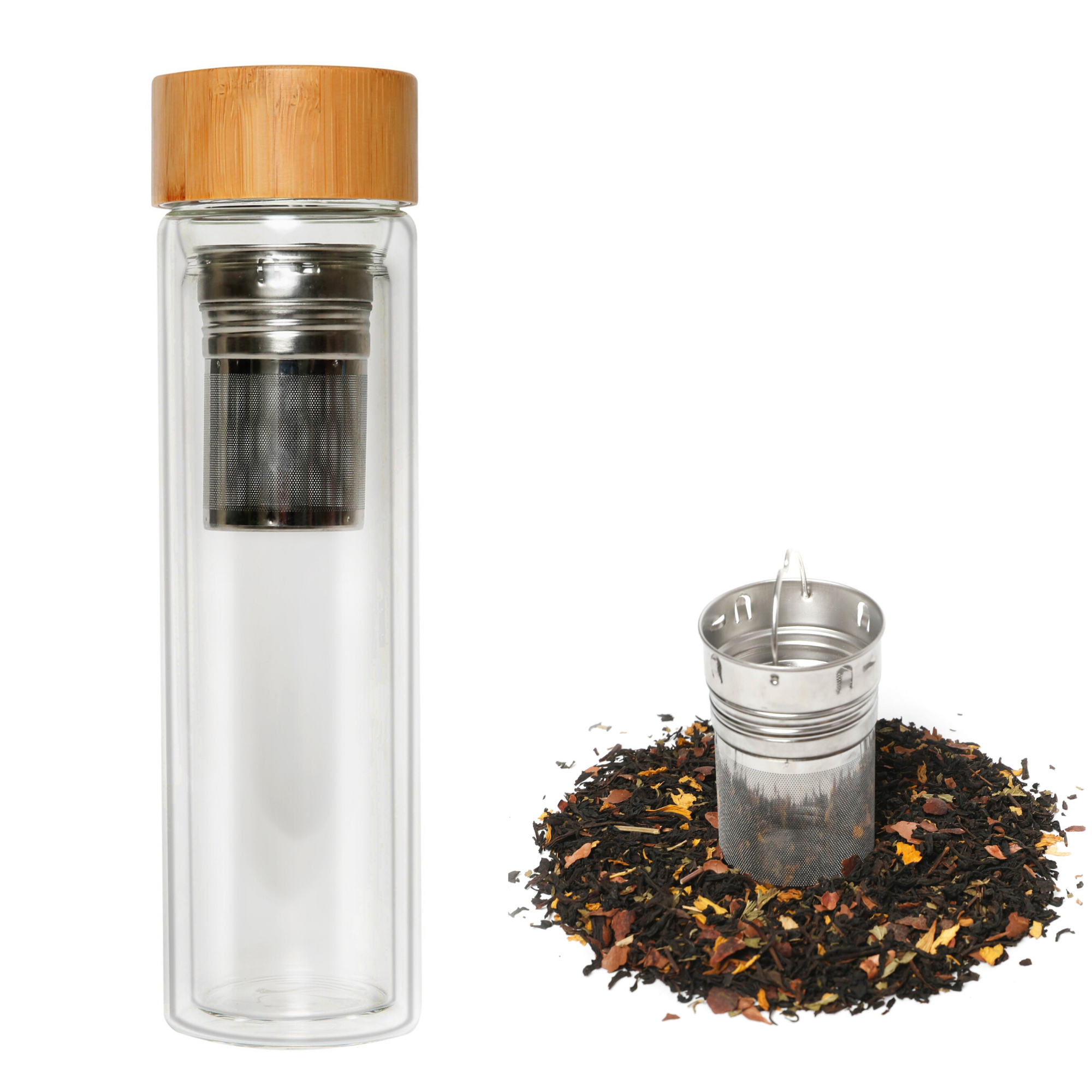 Kodu Tea Infuser Bottle & After Dinner Mint Loose Leaf Tea - 500ml Tea & Fruit Infusions