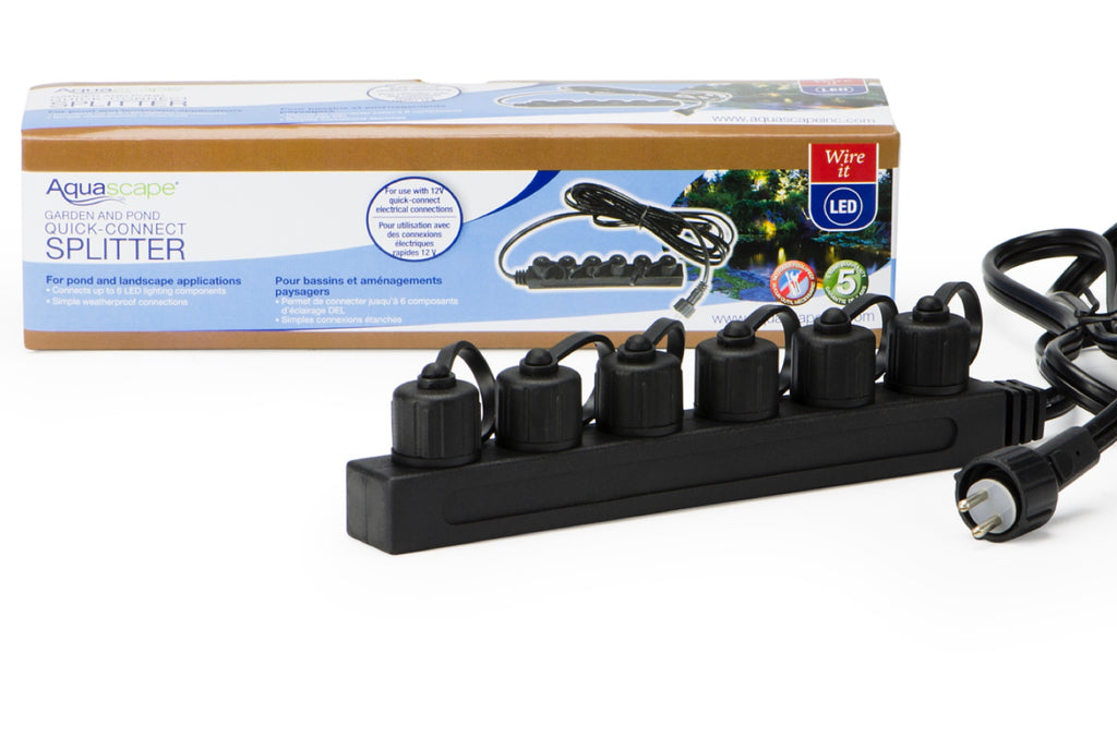 Aquascape UK Garden and Pond 6-Way Quick-Connect Splitter - WaterFeature.Shop