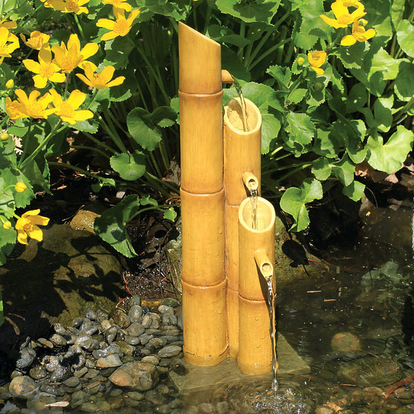 Aquascape UK Pouring 3-Tier Bamboo Fountain 78307 - WaterFeature.Shop