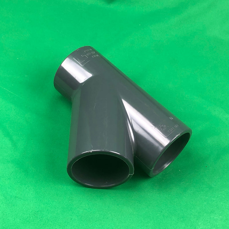 63mm Solvent Slip PVC 3 way 45 Degree Tee - WaterFeature.Shop