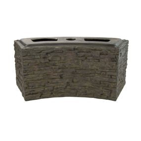 Aquascape UK Stacked Slate Wall Base - Curved Small - WaterFeature.Shop