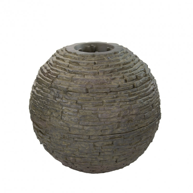 Medium - Stacked Slate Sphere - WaterFeature.Shop