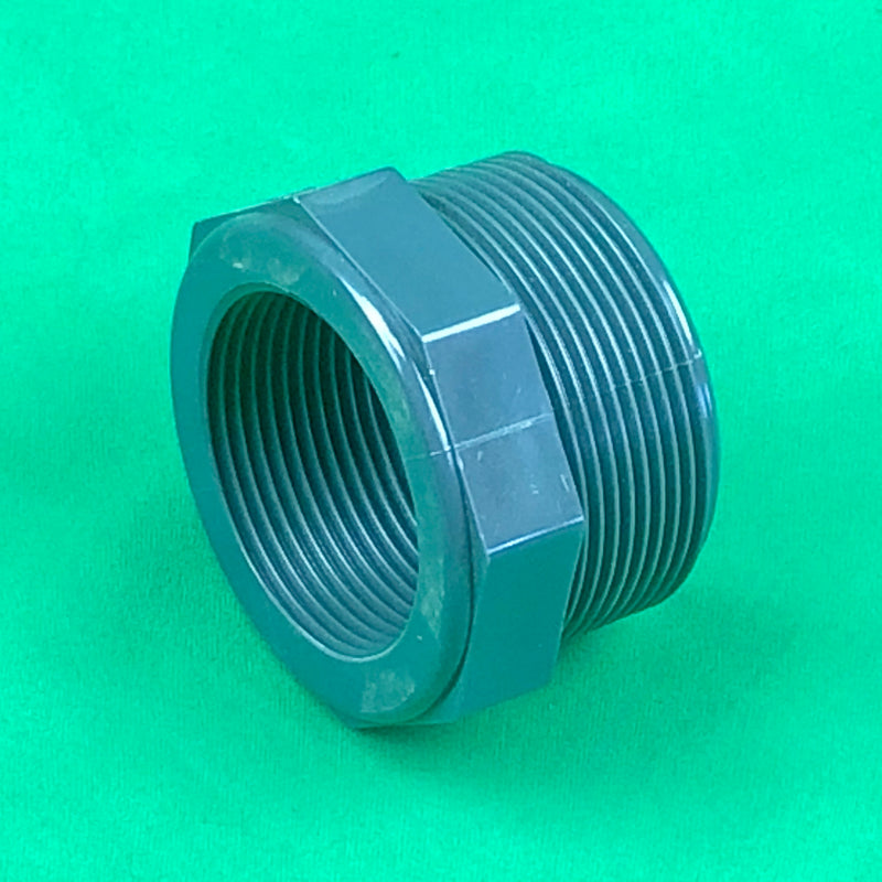 "Threaded - 2"" Male to 1 1/2"" Female ""Hexagon Nut"" - WaterFeature.Shop"