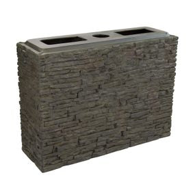 Aquascape UK Stacked Slate Wall Base Straight Large - WaterFeature.Shop
