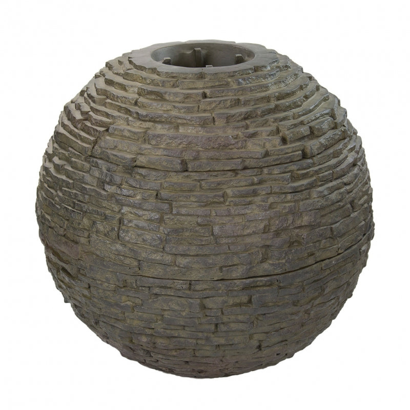Large - Stacked Slate Sphere - WaterFeature.Shop