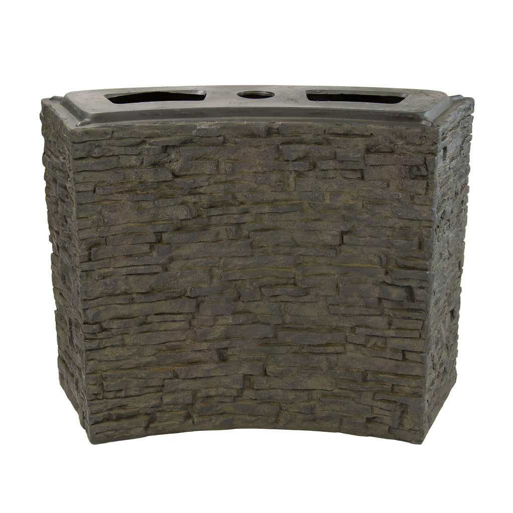 STACKED SLATE BASE  WALL - LARGE - CURVED - UK - WaterFeature.Shop