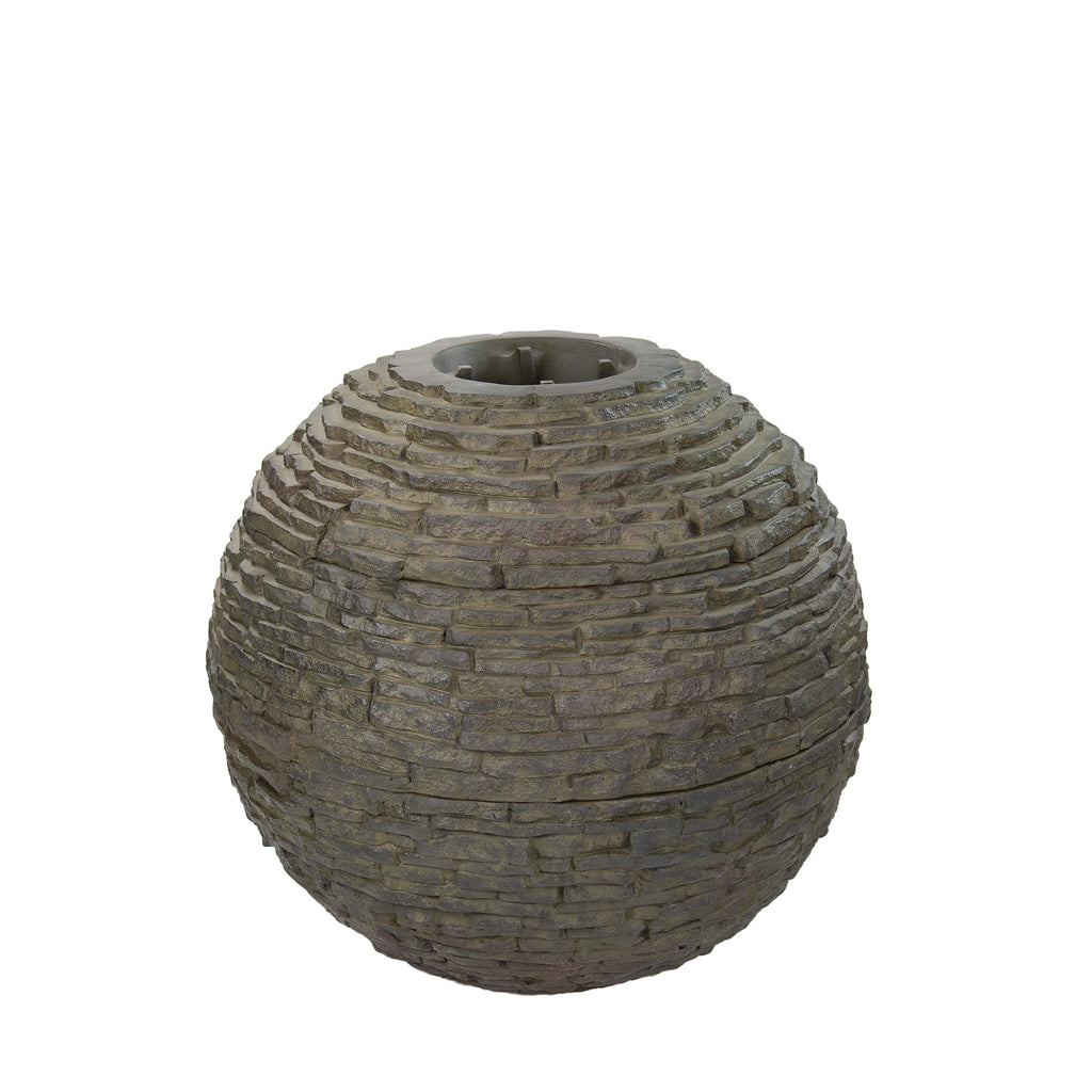 "SMALL STACKED SLATE SPHERE - 60cm (24"") - Aquascape - UK - WaterFeature.Shop"