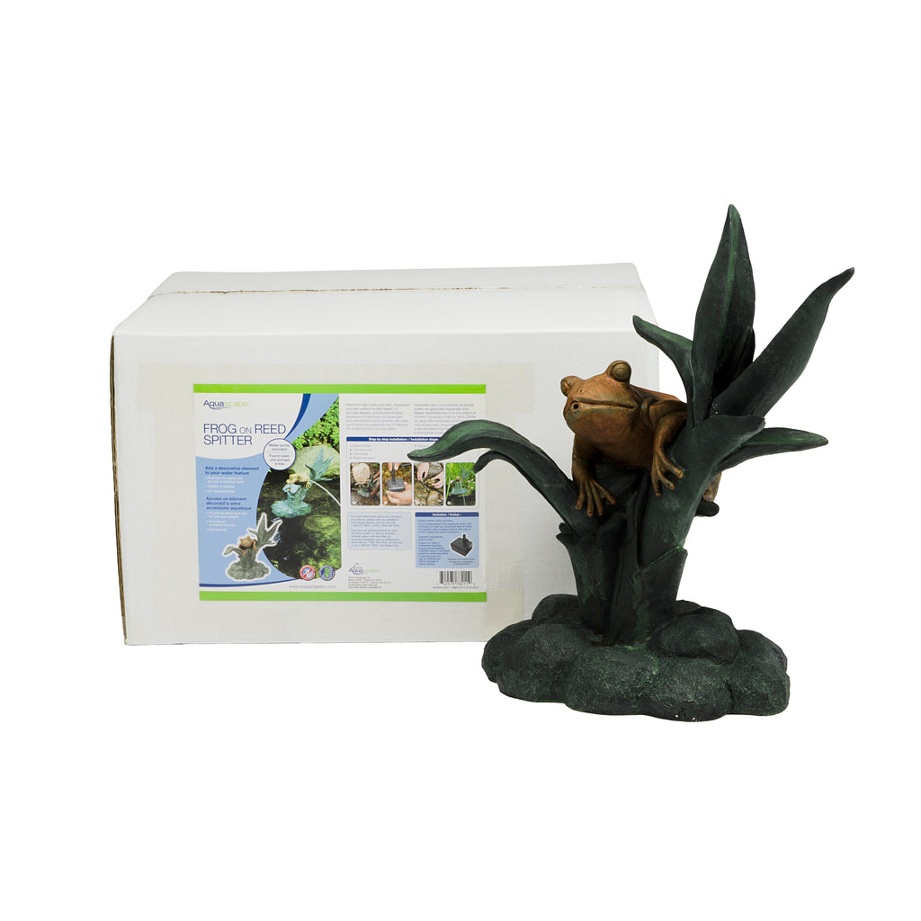 Aquascape UK Frog on Reed Spitter 78305 - WaterFeature.Shop
