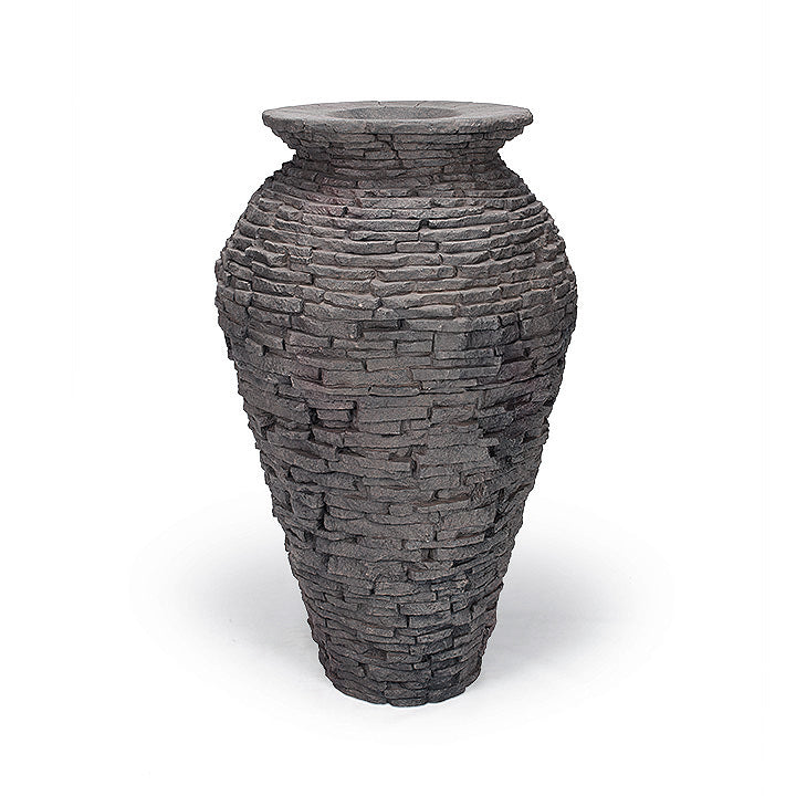 Aquascape UK Medium Stacked Slate Urn - WaterFeature.Shop