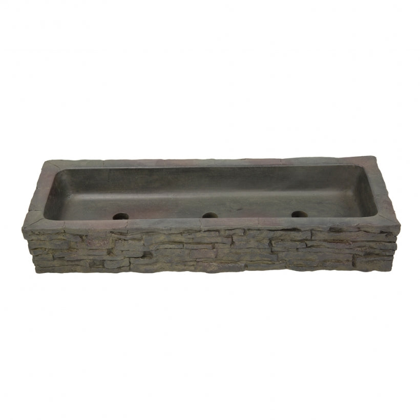 Aquascape UK Stacked Slate Wall Quad Spill - Straight Topper - WaterFeature.Shop